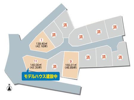 土地画像:堀江Ⅲ期