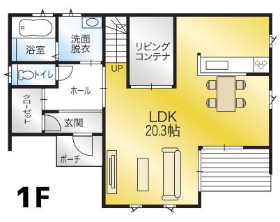 間取り画像1:畑寺モデルハウス