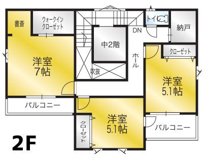間取り画像2:畑寺モデルハウス