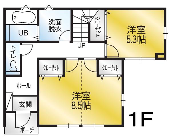 間取り画像1:小坂5号地分譲住宅