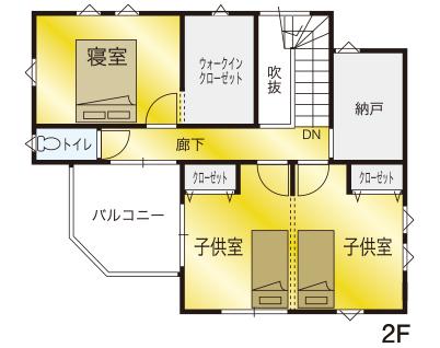 間取り画像2:堀江Ⅲモデルハウス<11号地>