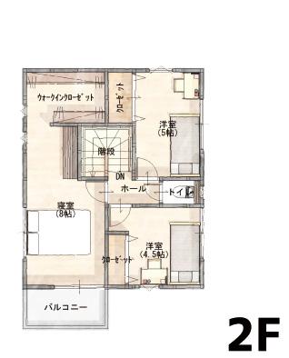間取り画像2:余戸西1丁目<2号地分譲住宅>
