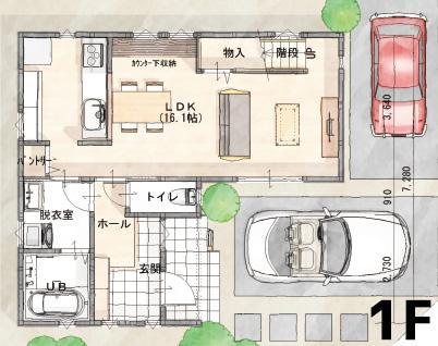 間取り画像1:余戸西1丁目<4号地分譲住宅>